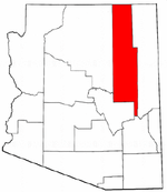 Map of Arizona highlighting Navajo County.png