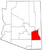 Map of Arizona highlighting Graham County.png