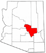 Map of Arizona highlighting Gila County.png