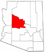 Map of Arizona highlighting Yavapai County.png