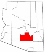 Map of Arizona highlighting Pinal County.png