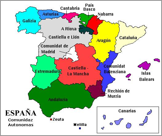 Mapa España Comunidades Autonomas Png.Imachen Comunidaz Autonomas Png Biquipedia A Enciclopedia