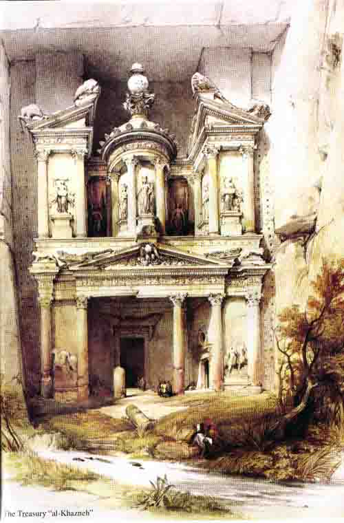 نقاشی دیوید رابرتز از پترا
