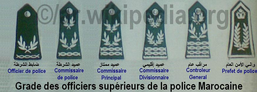 الادارة العامة للامن الوطني Direction Générale de la Sureté Nationale : المباريات و التكوين و الرتب Officiers_sup%C3%A9rieurs_de_la_police