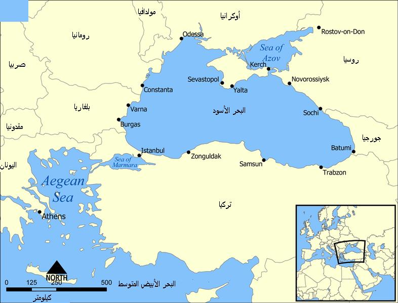 خريطة البحر الأسود