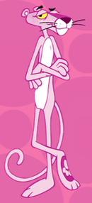النمر الوردي شخصية كرتونية