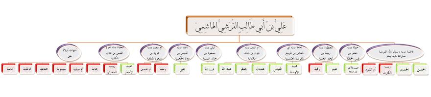 ذرية علي بن أبي طالب وزوجاته.