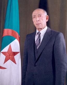 (البرنامج الفضائي الجزائري)  والعلاقات الجزائرية الايرانية.  259px-Mohamed_Boudiaf4