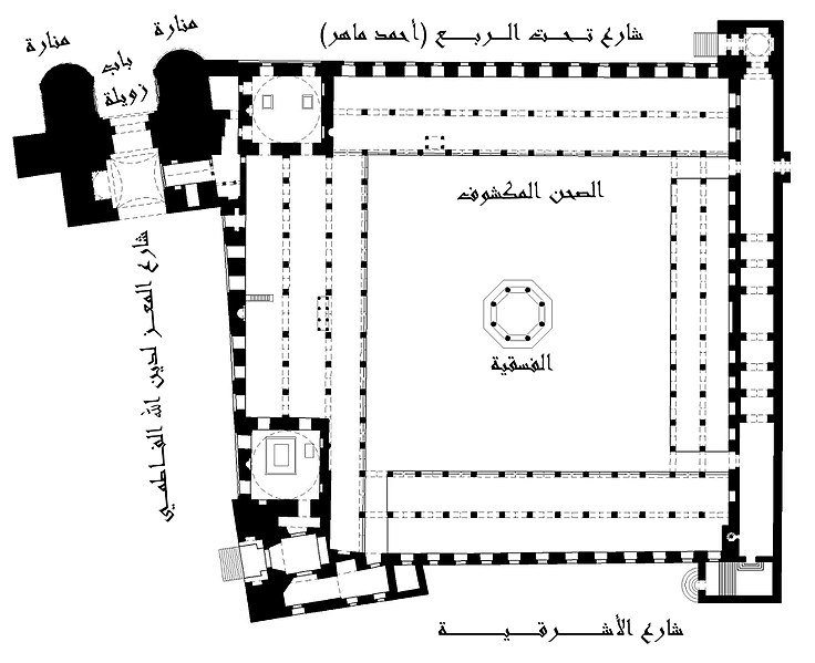 ملف:Plan of Sultan Al-Mu'ayyad Mosque.jpg