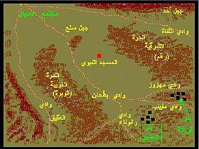 موقع غزوة بني النضير.