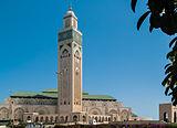 صورة معبرة عن مسجد الحسن الثاني