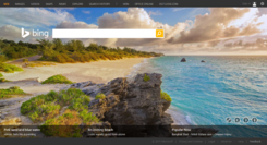 Bing homepage as of August 2015