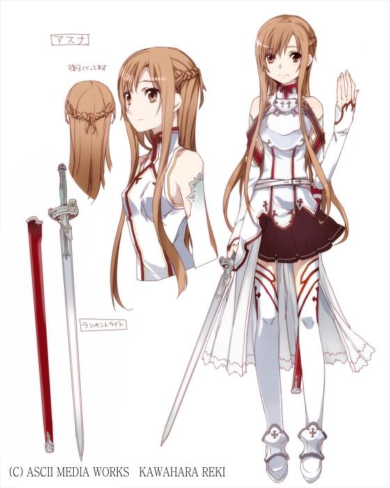 Code E Anime Characters : Kil asuna character design vikipediya