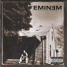 "Albomun üz qabığı Eminem ""The Marshall Mathers LP"" (2000)"