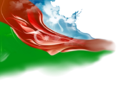 Flag of Azerbaijan beautiful Background.png