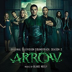 "Albomun üz qabığı Bleyk Nili ""Arrow - Original Television Soundtrack: Season 2"" (2014)"
