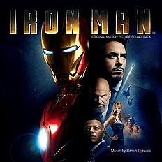 "Albomun üz qabığı Ramin Cavadi ""Iron Man: Original Motion Picture Soundtrack"" (2008)"