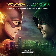 "Albomun üz qabığı Bleyk Nili ""The Flash vs. Arrow (Music Selections from the Epic 2-Night Event)"" (2014)"
