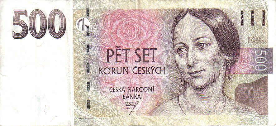500 tschechische kronen in euro