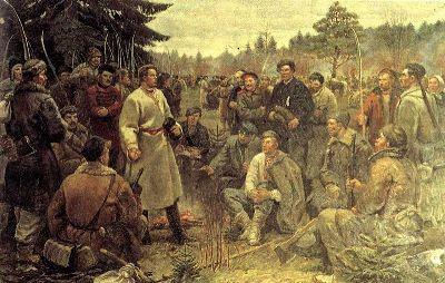 Kastuś Kalinoŭski siarod paŭstancaŭ 1863 hodu.jpg