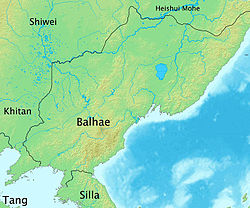 Location of Balhae