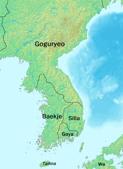 Location of Baekje
