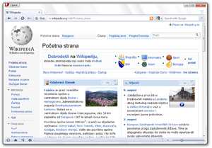 Opera prikazuje Wikipediju na Windows 7