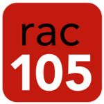 Logotip de RAC 105 TV