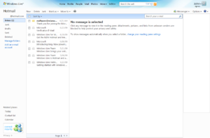 Microsoft Hotmail inbox