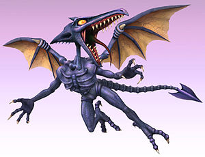 Ridley, en Super Smash Bros. Brawl.