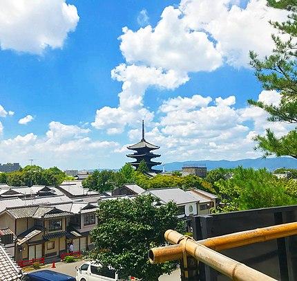 京都市東山区にある産寧坂伝統的建造物群保存地区の景観