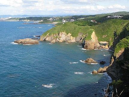 福浦八景の海岸線