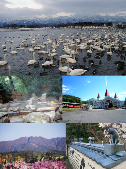 瓢湖/五頭温泉郷 村杉温泉/サントピアワールド/五頭山/やすだ瓦ロード