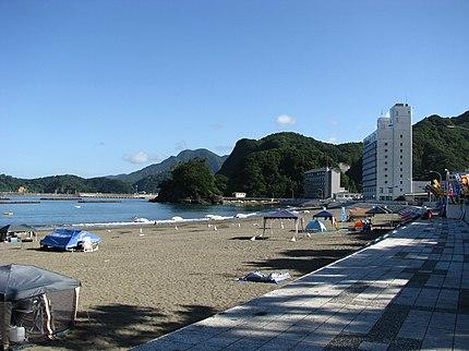 静岡県賀茂郡松崎町の松崎海岸。