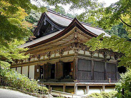 金剛輪寺(愛知郡愛荘町)の本堂。