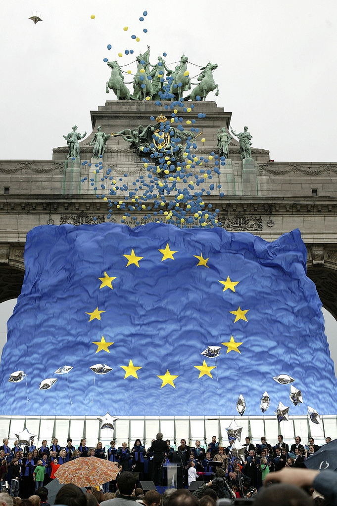 1 May 2004 enlargement celebration in Parc du Cinquantenaire.jpg