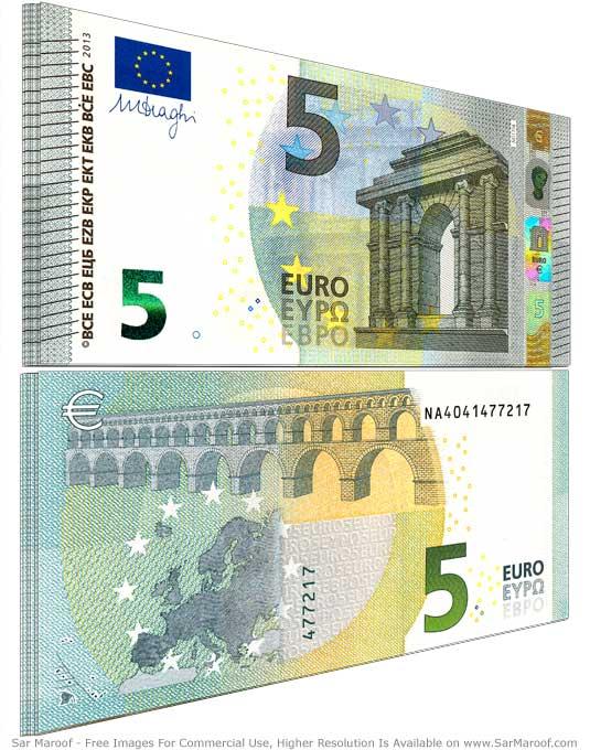 File5 Euro Bill