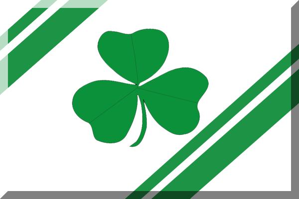 file 600px bianca con bande verdi e trifoglio png shamrock vector image free shamrock vector files