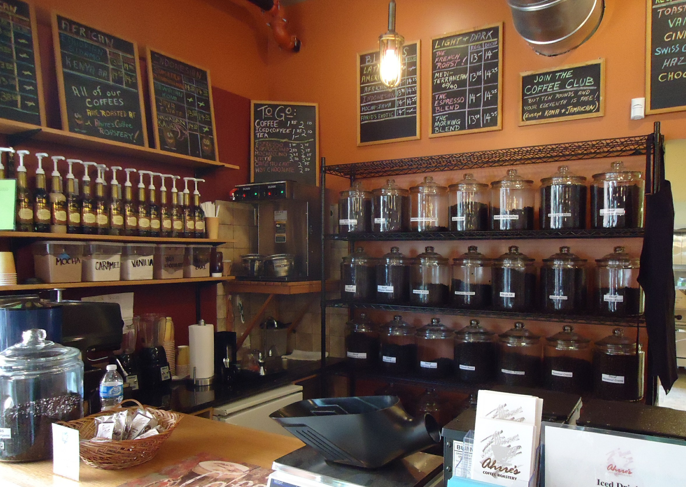 File:Ahrre's Coffee Roastery in Summit NJ interior view ...