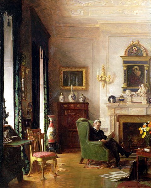 File:Albert Chevallier Tayler - The Grey Drawing Room 1917.jpg