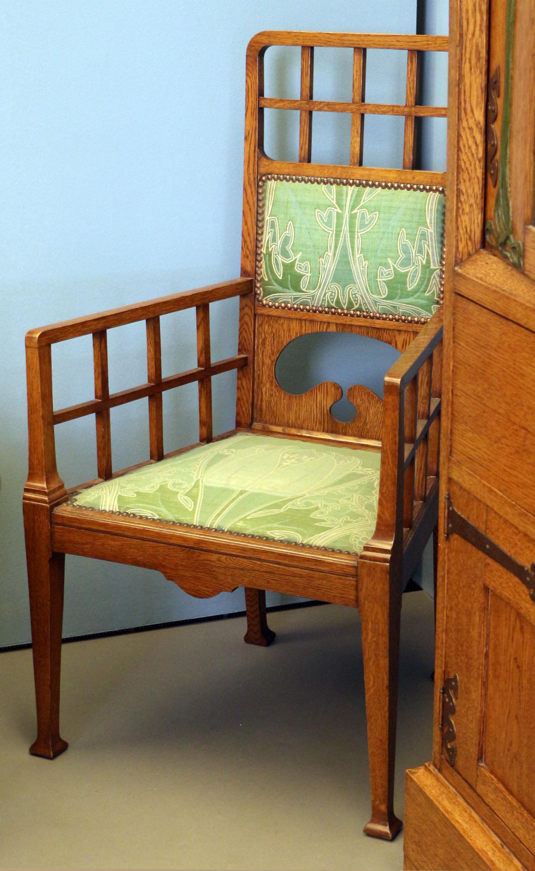 File:Alberto issel, salotto-soggiorno, 1902 ca., sedia con ...