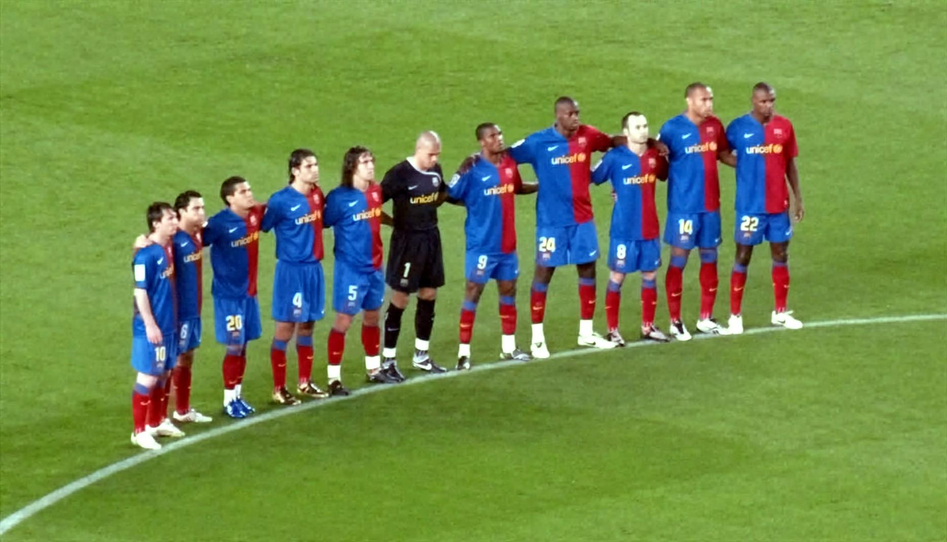 P/óster art/ístico del FC Barcelona con texto en ingl/és Part of This Te del jugador de f/útbol 20 x 30 cm