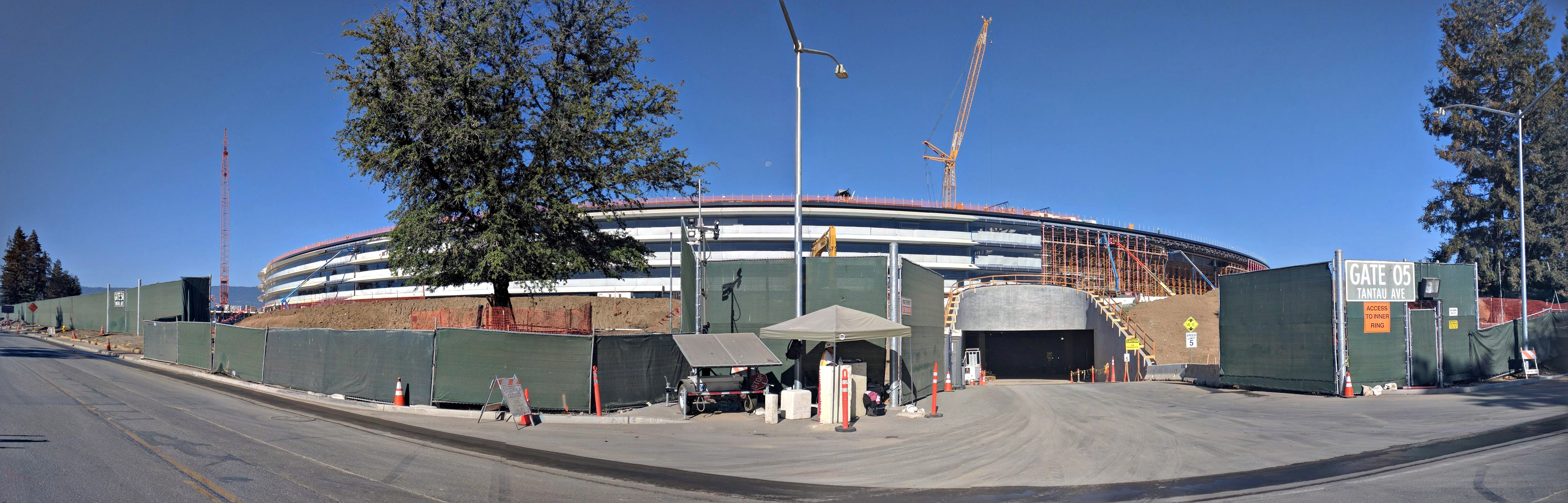 Panorama Of Apple Park Under Construction July 2016