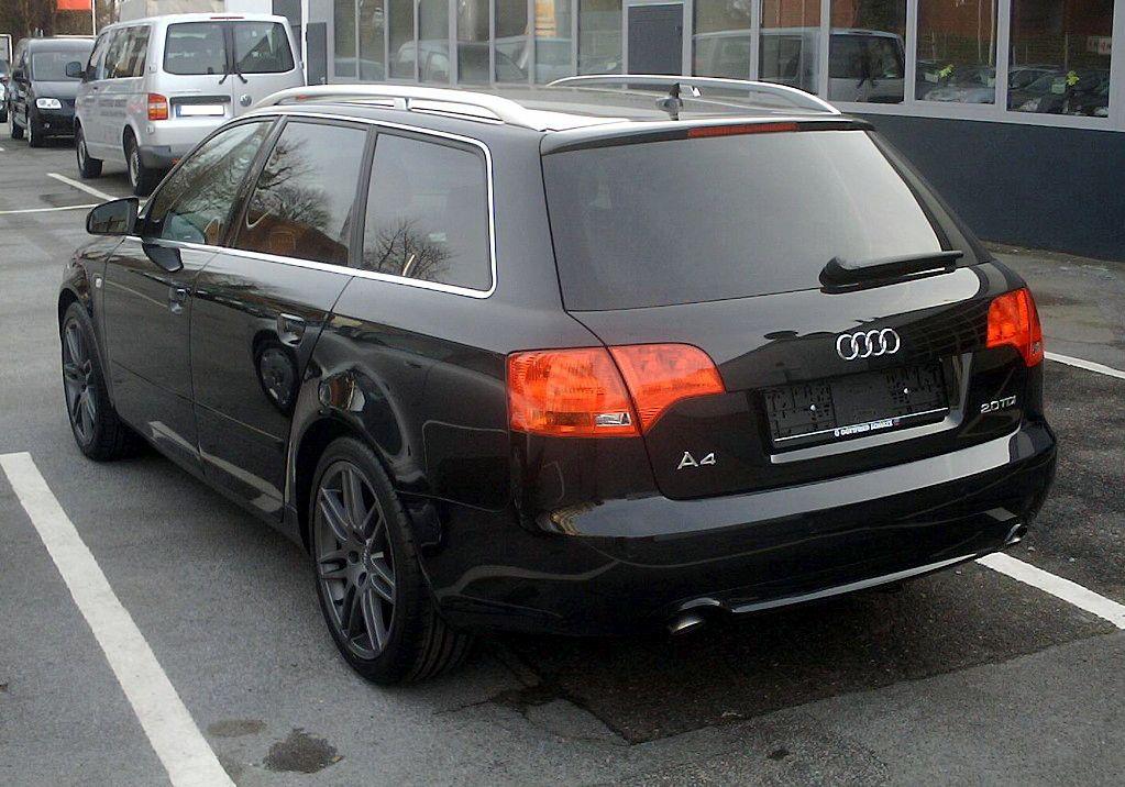 File:Audi A4 Avant rear.jpg - Wikimedia Commons