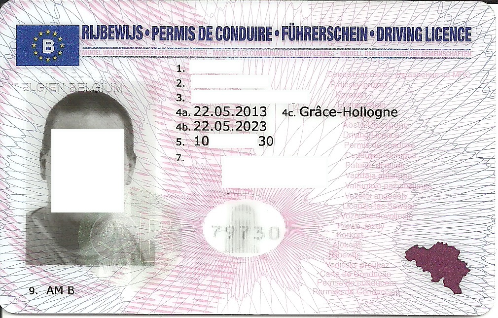 Driving licence in belgium wikipedia for Wisconsin drivers license template