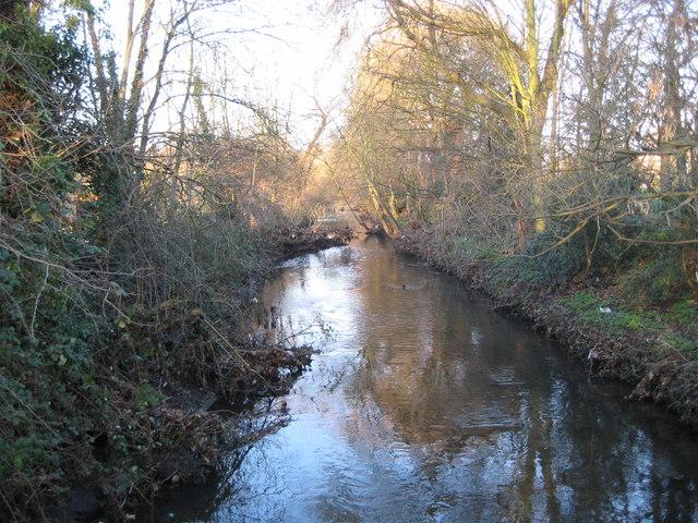 Beverley Brook in East Sheen - geograph.org.uk - 690992