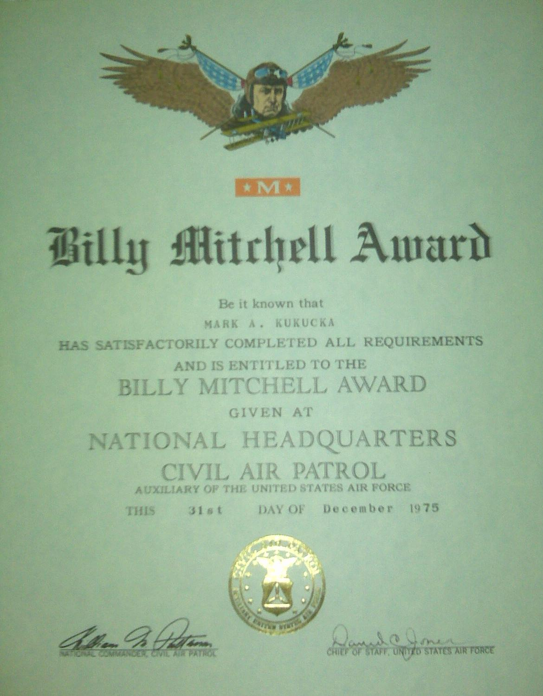 certificate awarded
