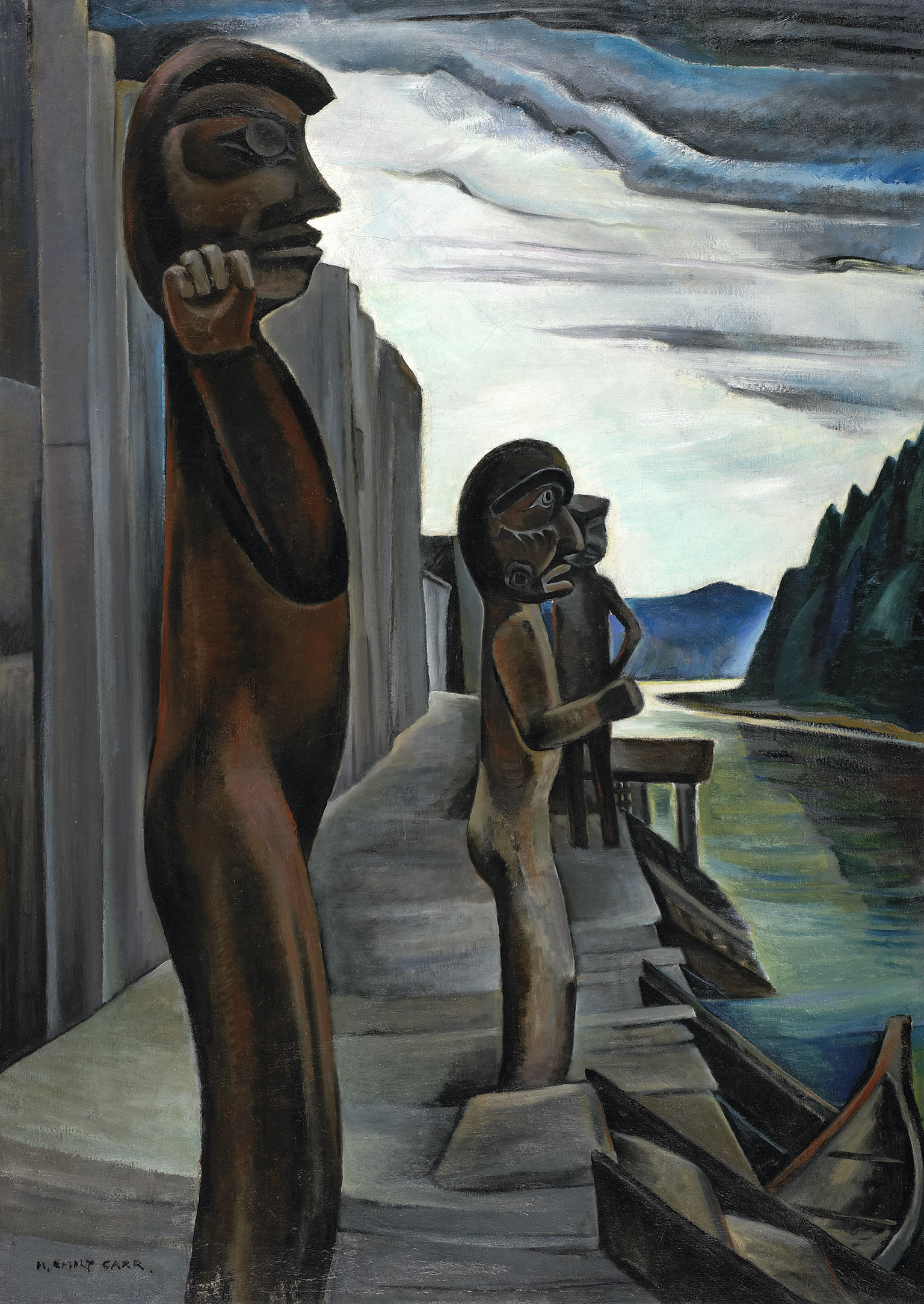 EMILY CARR (pintura) Blunden_harbour_totems_Emily_Carr