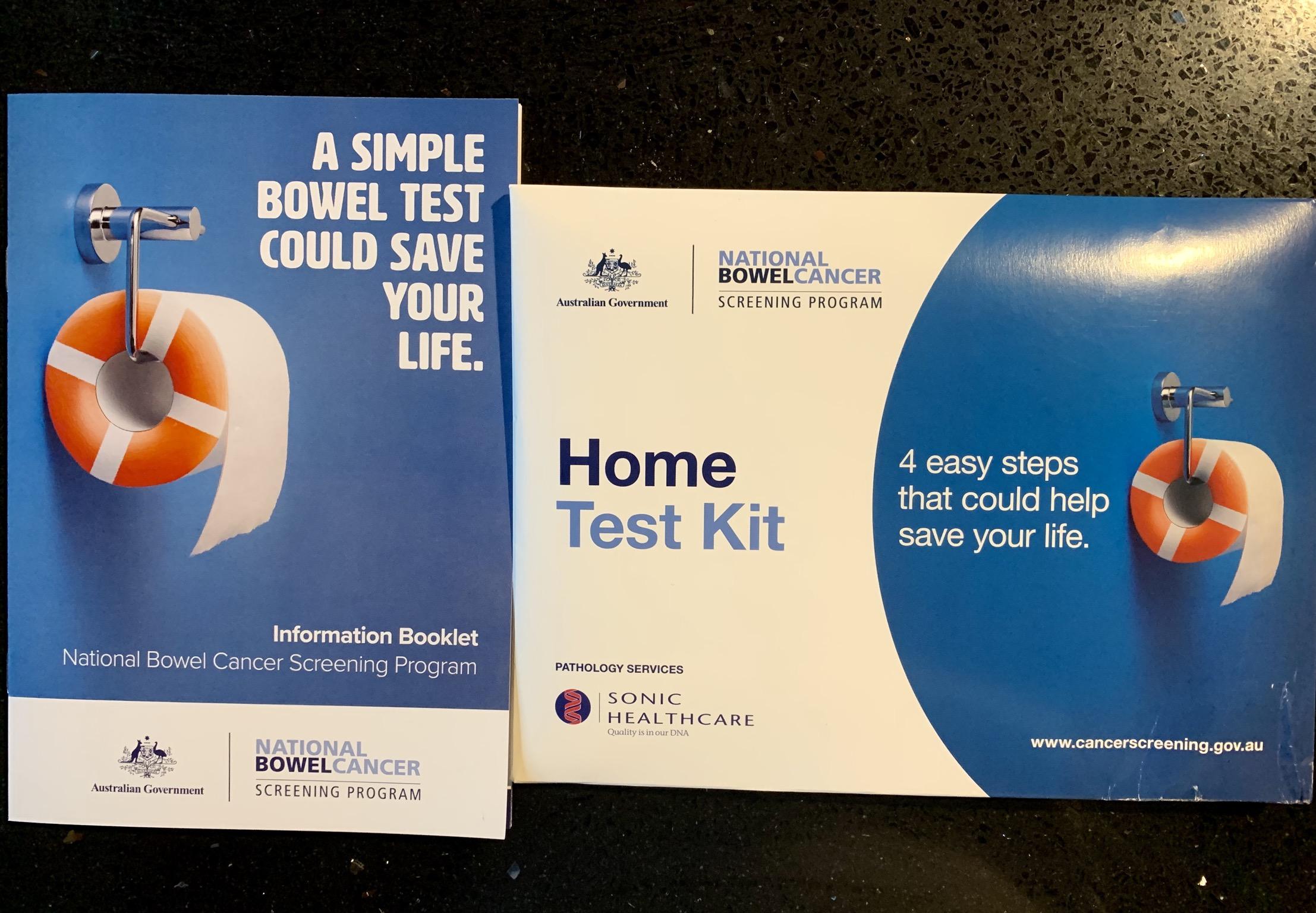 File Bowel Cancer Home Test Kit Package In Australia Jpg Wikimedia Commons