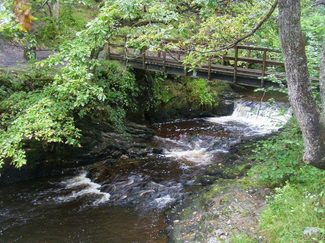 Bridge at Pwll Du ar Byrddin - geograph.org.uk - 1657395